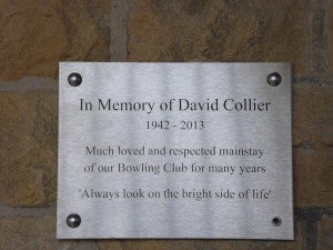 D Collier Memorial Plaque